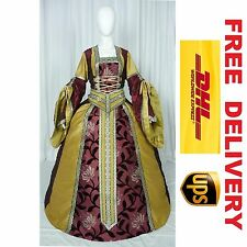 MEDIEVAL RENAISSANCE TUDOR WEDDING HANDFASTING LARP GOWN DRESS COSTUME (19J)