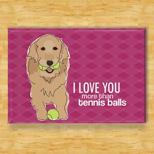 Golden Retriever I Love You Handmade Fridge Magnet Funny Dog Lovers Little Gift