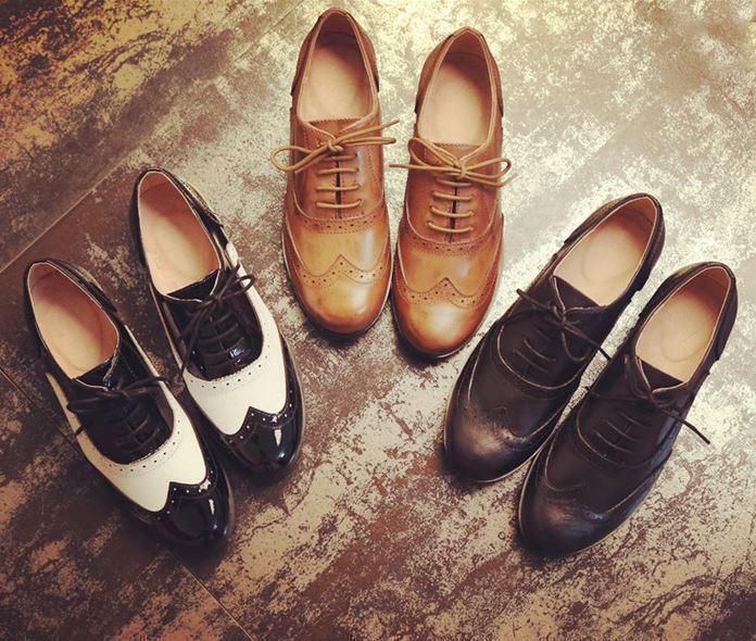 in vendita scontato del 70% donna Genuine Leather Flat Casual Retro Brogues Wing tip tip tip Oxfords Dress scarpe    nelle promozioni dello stadio