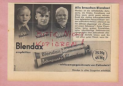 Mainz, Werbung 1942, Blendax Zahn-pasta Zahnpaste Attraktiv Und Langlebig