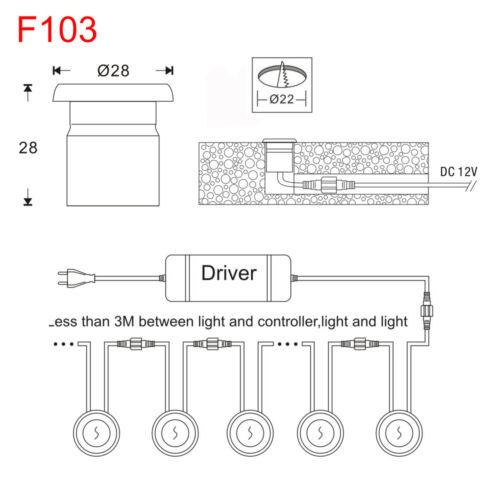 Smart Wifi Control 28mm 12V RGB Outdoor Stainless LED Deck Step Landscape Lights