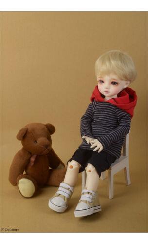Dollmore 1//6 BJD sweater Dear Doll Size Comosha Hood Short T Shirts R Gray