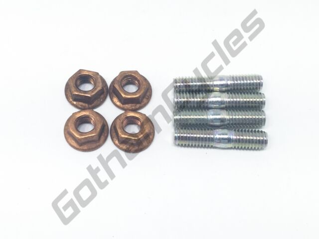 Copper Nuts And Bolts >> Ducati Cylinder Head Exhaust Manifold Special Stud M6 Bolts Screws
