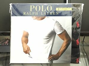 Polo-Ralph-Lauren-Classic-Fit-Three-3-Pack-Cotton-Crew-Neck-Tee-Shirt-BLACK