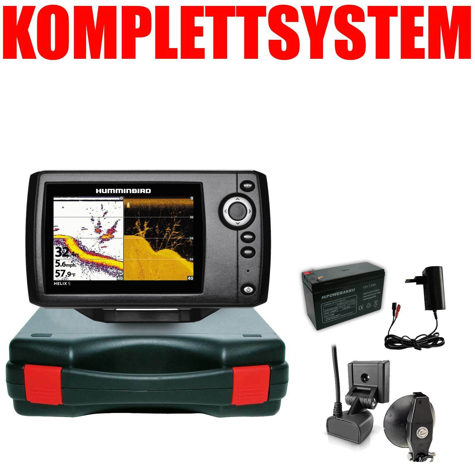 Humminbird Echolot Portabel Basic Komplettsystem - Helix 5 DI G2 Down Imaging