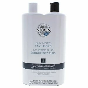 System-2-Cleanser-Scalp-Therapy-Conditioner-Duo-by-Nioxin-for-Unisex-33-8-oz