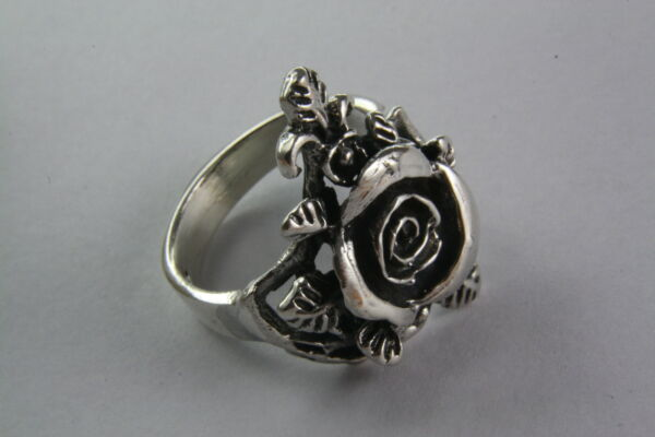 Humor Rose Flower Silberring Gothic Ring 925 Silber 388