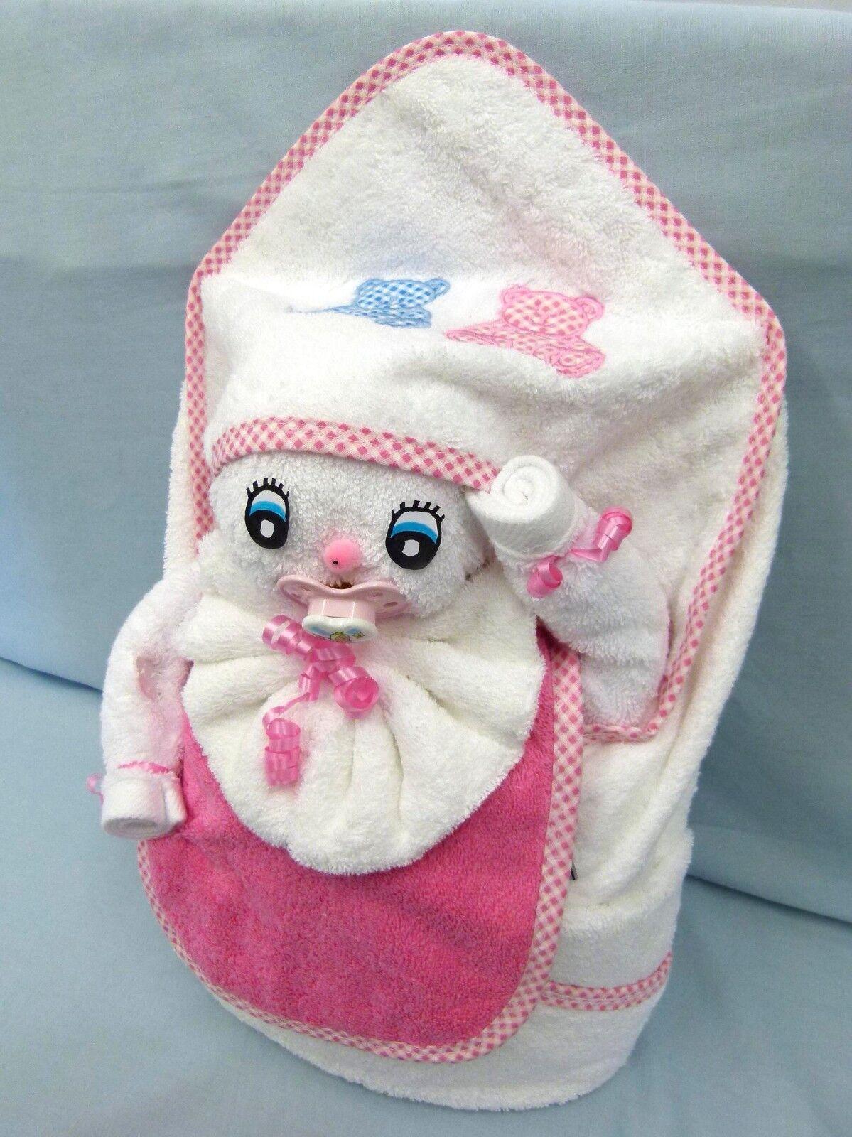 Handtuch Geschenk Figur Baby Schnuller Kapuze Gastgeschenk Taufe Babyparty Babyparty Babyparty Oster efb332