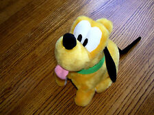 "9"" Disney Flipping Pluto Plush Stuffed Animal Pet Pals Barks with Motion SO cute"