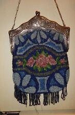 Antique Art Deco Whiting & Davis Victorian Beaded Handbag