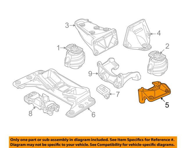 s l640 bmw 5 series engine suspension left console 22116761117 oem oe ebay