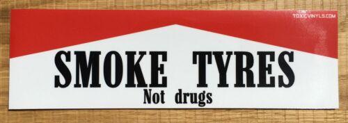 SMOKE TYRES JDM DRIFT CAR SLAP STICKER