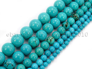 Stabilized-Turquoise-Gemstone-Round-Beads-16-039-039-2mm-3mm-4mm-6mm-8mm-10mm-12mm