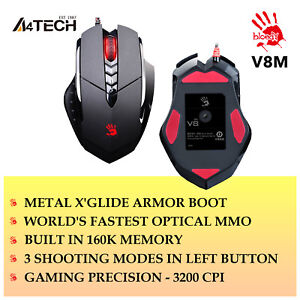 A4Tech-Gaming-Mouse-Wired-Multi-Core-GUN3-V8M-LED-Optical-3200DPI-COMPUTER-PC