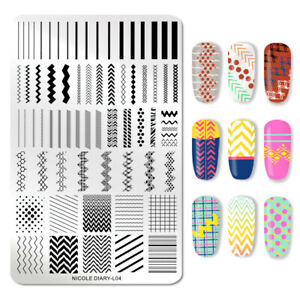 NICOLE-DIARY-Geometric-Stamping-Plates-Rectangle-Nail-Image-Stamp-Stencil-L04