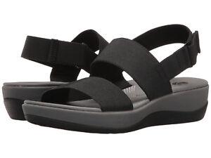 huge range of large discount outlet boutique Details about CLARKS Women's Arla Jacory Wedge Sandal Black
