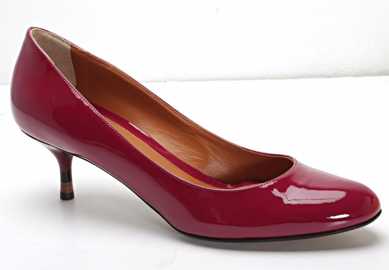 FENDI Womens Red Patent Leather Round-Toe Low Kitten Heel Pump 8.5-38.5 NEW BOX