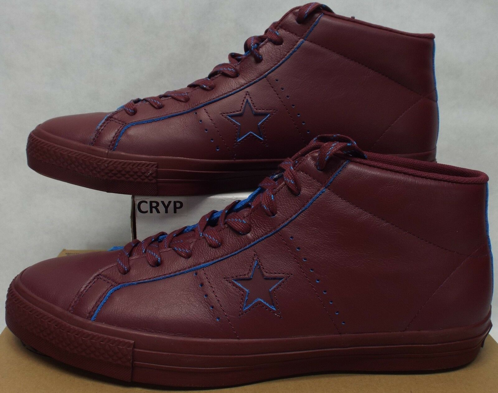 sports shoes 08451 86b25 ... New Mens 13 Converse Converse Converse One Star Pro Mid Deep Bordeaux  Leather Shoes  80 155519C ...