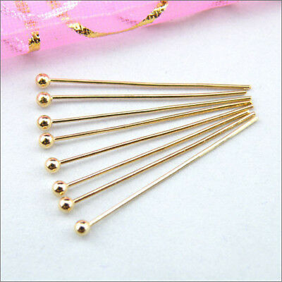 Champagne Gold Copper Ball Head Pins.15mm,20mm,25mm,30mm,DIY Findings R0025