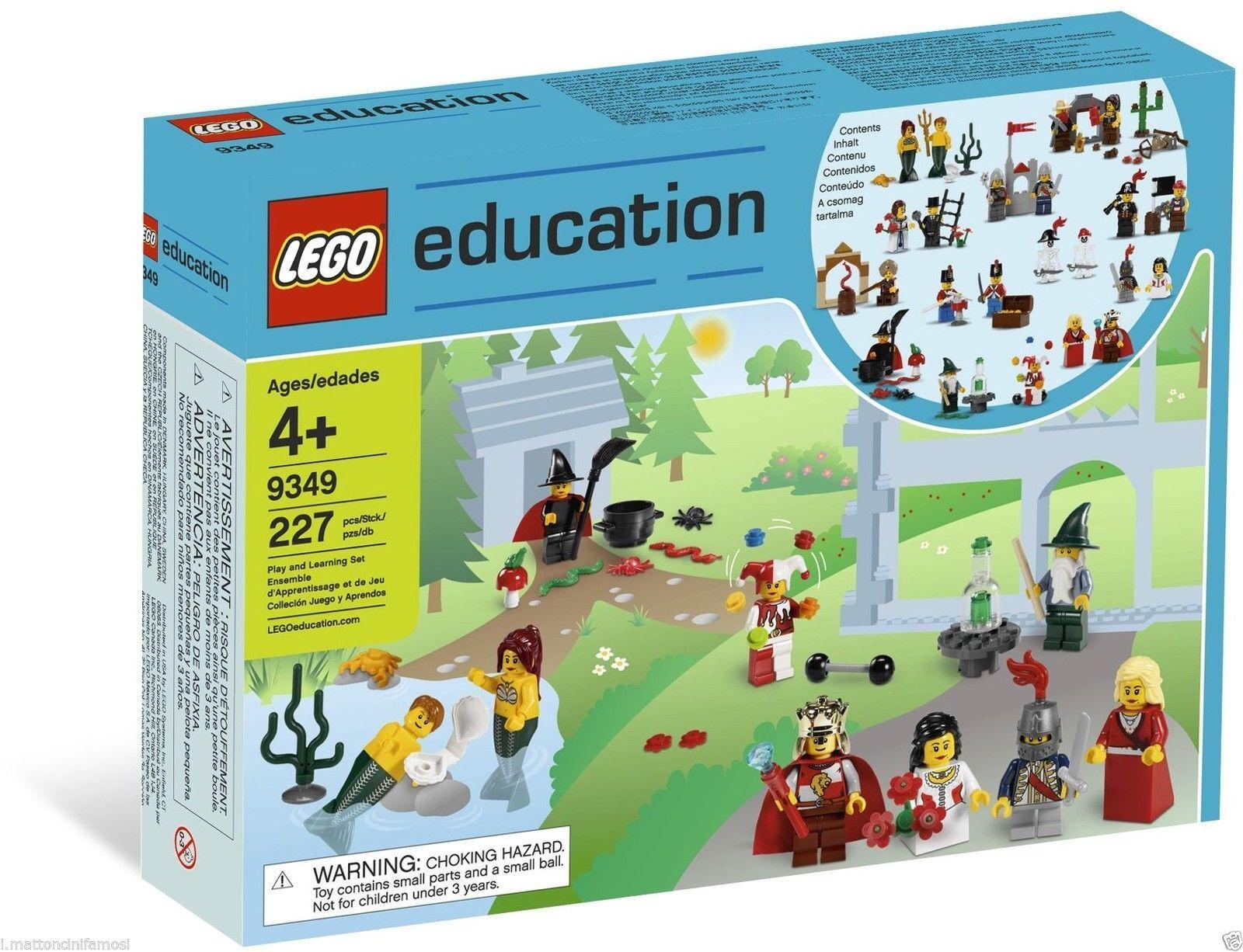 LEGO EDUCATION 9349 Fairytale and Historic Minifigure Set FIGURE STORICHE 227 PZ