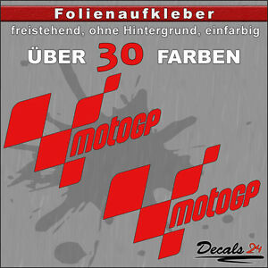 2er-SET-MOTOGP-Sponsoren-Folienaufkleber-Auto-Motorrad-30-Farben-18cm