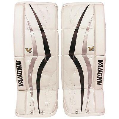 New Vaughn 800 Goal ice hockey leg pads 22 Black/Silver V6 youth/junior goalie