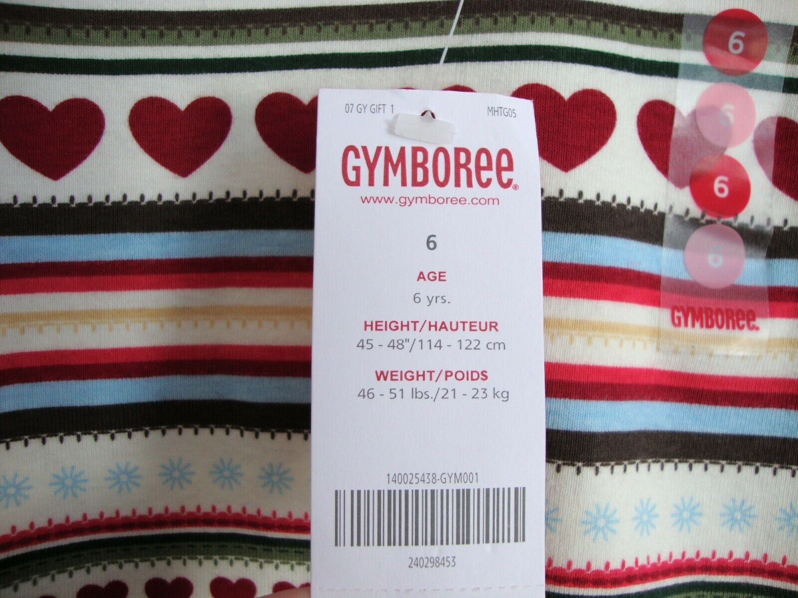 Gymboree MOUNTAIN CABIN Top with hearts /& floral nordic border NWT 7 8
