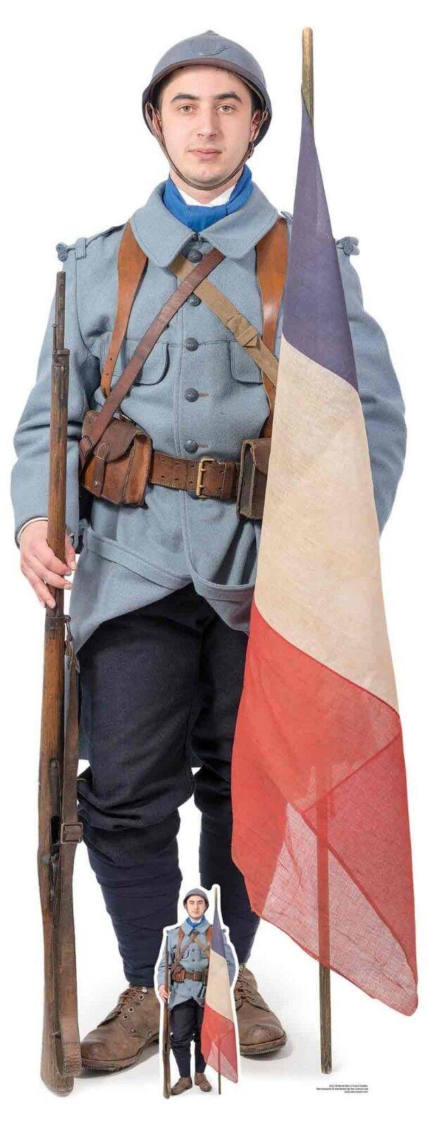Französisch Weltkrieg 1 Soldat Pappfigur Aufstell Aufsteller - The Great Krieg
