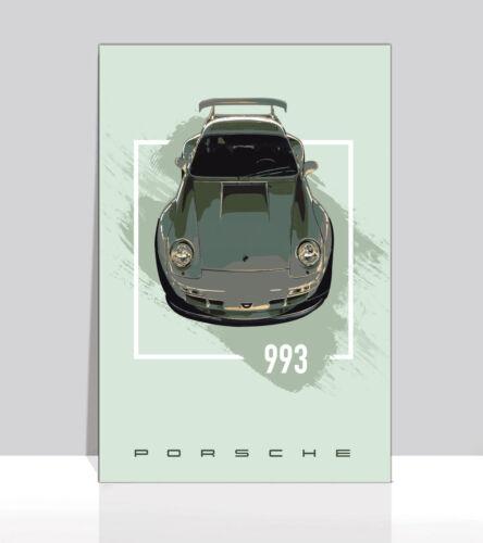 """Porsche wide body 993 Poster Aluminum 36/""""x 24/"""""""