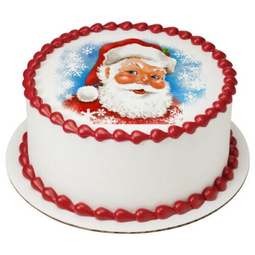 Classic Santa edible cake Topper Caucasian