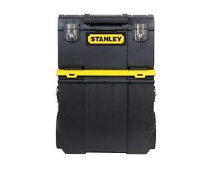 Image is loading Stanley-Tool-Box-Rolling-Mobile-Work-Center-Toolbox-  sc 1 st  eBay & Stanley Tool Box Rolling Mobile Work Center Toolbox Tradesman ...