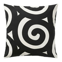 Ikea Tradklover Cushion Pillow Cover Bold Black & White Geometric 20 X 20
