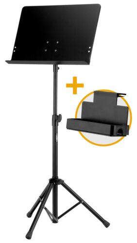 Geschlossenes Orchesterpult in schwarz im Sparset mit praktischer Ablagebox