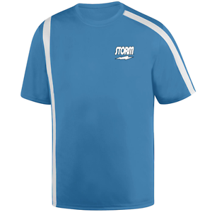 Storm Men's Dimension Performance Crew Bowling Shirt Dri-Fit Columbia bluee