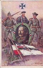 MANNHEIM - SANDHOFEN vom 3.3.1918 Durch Kampf zum Sieg. Kolonialkriegerdank. EK.