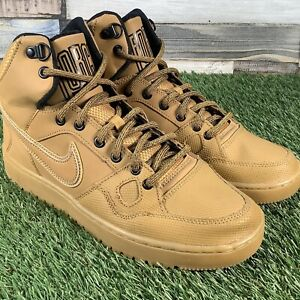 UK6-Nike-Son-Of-Force-Wheat-Brown-High-Top-Trainers-Air-1-EU40