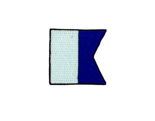 Shield Patch embroidered applied flag code signals maritime backpack A Alpha