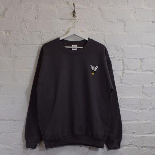 Actual Fact Wu x Mickey Chain Charcoal Crew Neck Hip Hop Sweatshirt Top