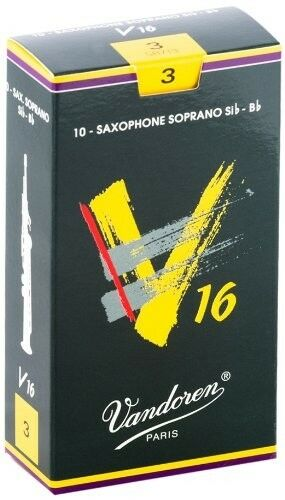 Vandoren SR713 Soprano Sax V16 Reeds Strength 3; Box of 10