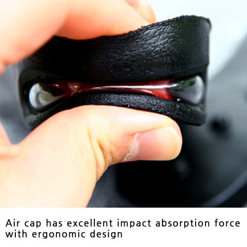 Two Stage Air Cap Heel Insert For Women 1 Pair 5cm Impact Absorption Shoe Insole