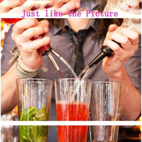 Hot Liquor Pourer Free Flow Hinged Flip Top Wine Bottle Pour Spout Stopper T