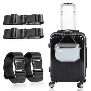 Black-Short-Travel-Luggage-Straps-Easy-Adjustable-Suitcase-Belt-Buckle-With-Hook