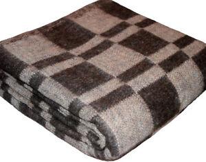 100% Schurwoll, Wolldecke, Camping Decke, Schafe Decke, Tagesdecke, Wool Blanket