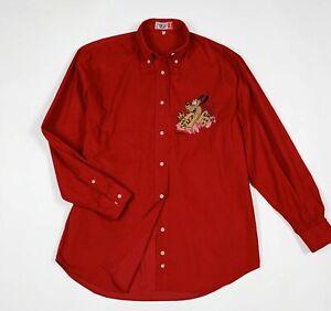 Emmanuel-schvili-camicia-donna-usato-M-vintage-pluto-disney-shirt-used-T6061