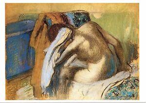 Edgar Degas: Frau Trocknen ihr Haar-BRANDNEU Vintage Post Card