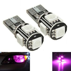 2-ampoules-a-LED-rose-Feux-de-position-Veilleuses-pour-BMW-E46-E60-E90-Z4-X3