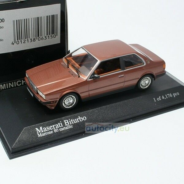 MINICHAMPS MINICHAMPS MINICHAMPS MASERATI BITURBO MARONE 80 METALLIC 400123500 5de984