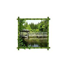 Stickers déco bambou Asie 30x30cm 5211