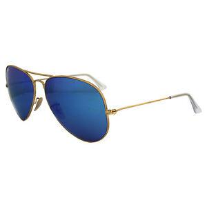 ray ban aviator blue mirror 62mm