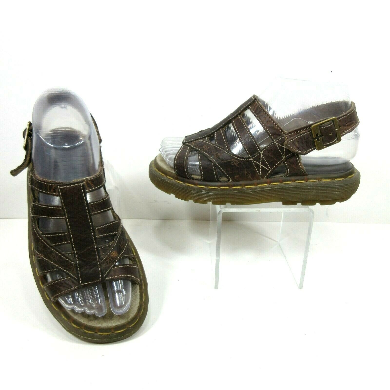 Dr Martens 5   36 Brown Leather Chantell Open Toe Fisherman Sandals shoes 12418